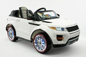 Range Rover Style Battery Powered 12V Kids Electric Ride-On Car with MP3 Player, FM Radio, LED Wheels with Full Function Parental Remote Control