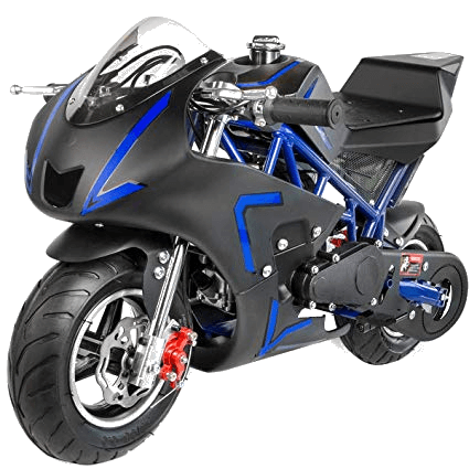 XtremepowerUS 40CC 4-Stroke Gas Power Mini Pocket Motorcycle Ride-on (Blue)
